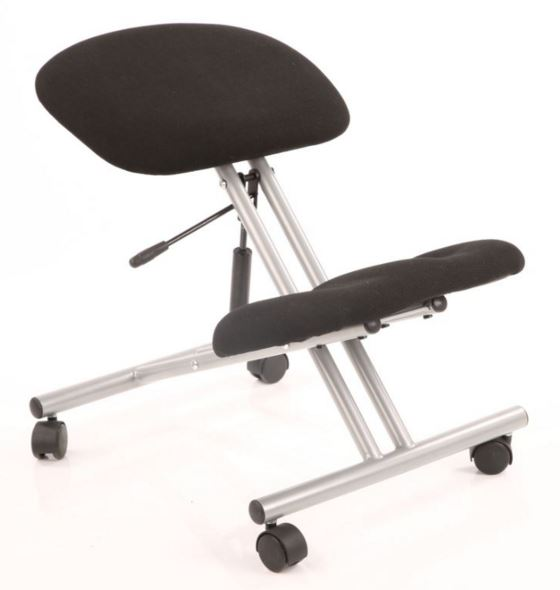 Kneeling Stool Black silver