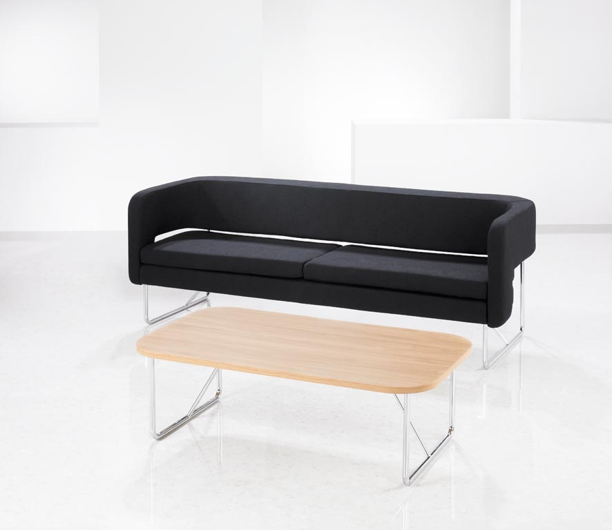 Sven-S-sofa SS3 black+SSCR table